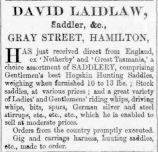 """Advertising"" Hamilton Spectator and Grange District Advertiser (South Melbourne, Vic. : 1860 - 1870) 9 November 1861: 3. Web. 12 Nov 2016 ."