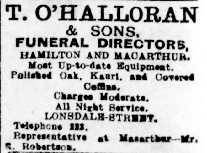 """Advertising"" Hamilton Spectator (Vic. : 1870 - 1918) 3 March 1917: 8. ."