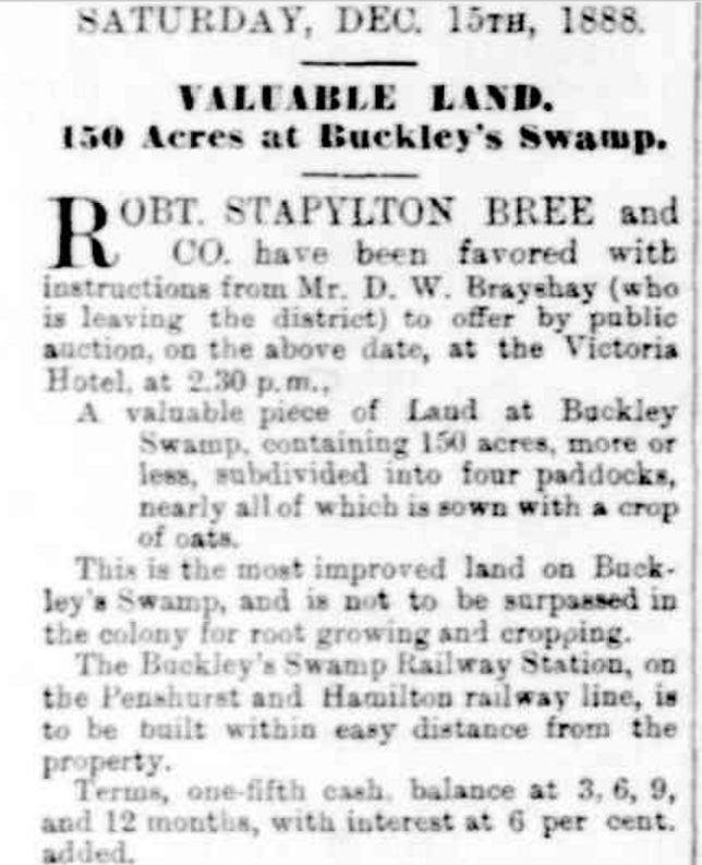 """""""Advertising"""" Hamilton Spectator (Vic. : 1870 - 1918) 13 December 1888: ."""