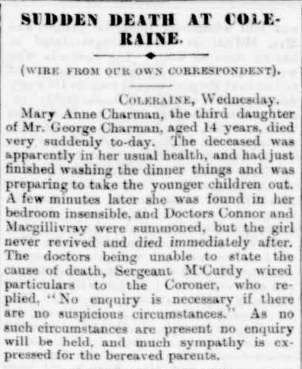 """OBITUARY"" Portland Guardian (Vic. : 1876 - 1953) 4 January 1943: 4 (EVENING). ."