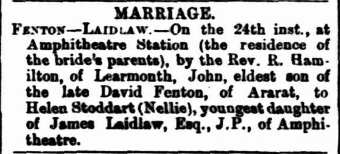 """Family Notices"" Hamilton Spectator (Vic. : 1870 - 1918) 31 July 1884: 2. ."