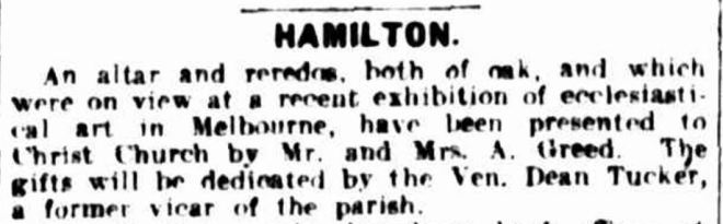 """HAMILTON."" The Argus (Melbourne, Vic. : 1848 - 1957) 22 May 1925: 6. ."