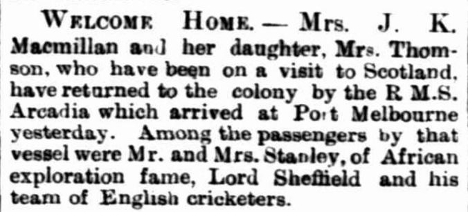 """Items of News."" Hamilton Spectator (Vic. : 1870 - 1918) 12 November 1891: . ."