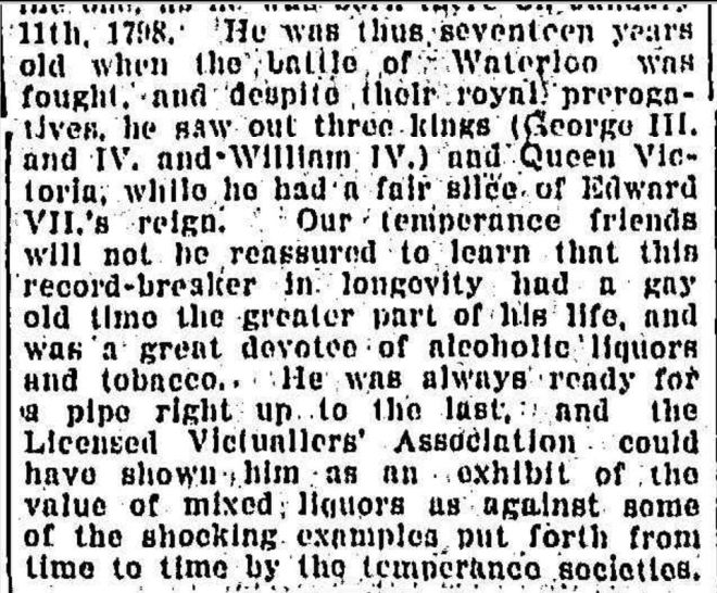 """""""THAT WARRNAMBOOL CENTENARIAN."""" Newcastle Morning Herald and Miners' Advocate (NSW : 1876 - 1954) 13 February 1909: ."""