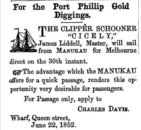 Page 1 Advertisements Column 1,Daily Southern Cross, Volume VIII, Issue 520, 22 June 1852 http://paperspast.natlib.govt.nz/newspapers/DSC18520622.2.2.1