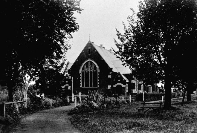 HAMILTON WESLEYAN METHODIST CHURCH c1930. Image courtesy of the Museums Victoria Collections http://collections.museumvictoria.com.au/items/769323