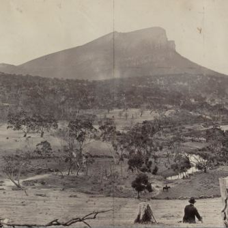 MOUNT ABRUPT NEAR DUNKELD c1879. Photographer: Thomas Washbourne.Image courtesy of the State Library of Victoriahttp://handle.slv.vic.gov.au/10381/413198