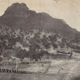 MOUNT STURGEON NEAR DUNKELD c1879. Photographer: Thomas Washbourne. Image courtesy of the State Library of Victoria http://handle.slv.vic.gov.au/10381/408980